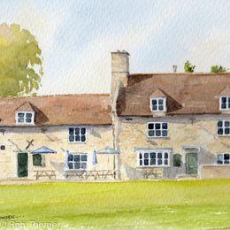 Exeter Arms, Barrowden, Rutland Print