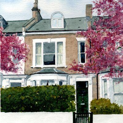 Finsbury Park House, London Watercolour