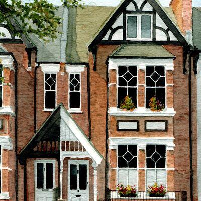 Teddington House watercolour