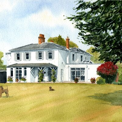 Berkshire House in Watercolour