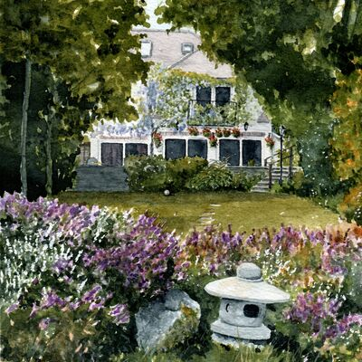 Twickenham House and Garden Watercolour