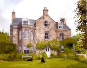 Aberdeenshire House in Watercolour