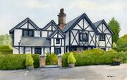 Staffordshire House in Watercolour