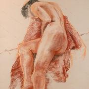 Reclining Figure. Pastel