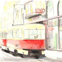 Tram stop Prague