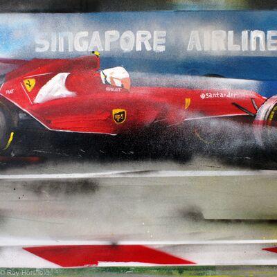 Ricciardo and his Ferrari