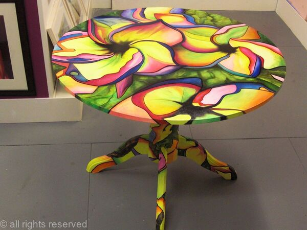 Perfect LIVING WITH ART Hand Painted Table