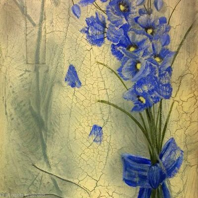 Blue Delicate Poppies