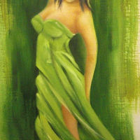 Commission - female in green gown