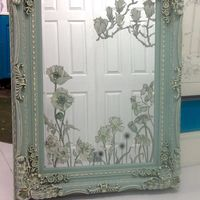 Duck Egg Blue Handpainted Miror