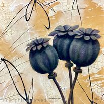 THREE POPPY HEADS