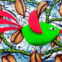 QUIRKY GREEN BIRD