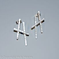 white lines earrings