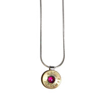jewel ammunition rose-cut garnet pendant