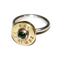 jewel ammunition green tourmaline ring