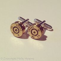 jewel ammunition L42A3 cufflinks