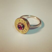 jewel ammunition cabochon garnet ring