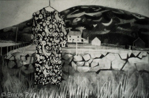 Landscape with Floral Dress