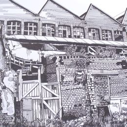 Textile factory,Piercy Street? next to Ancoat's Hopitall
