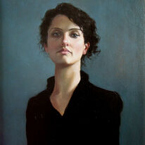 Portrait on Turquoise (Erin) RGI Award Winner