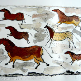 neolithic horses and colour