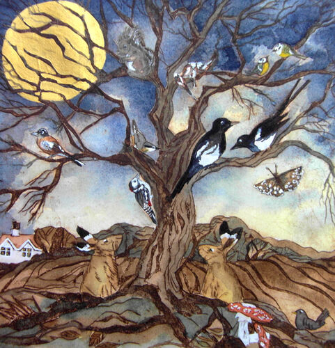 They Gathered At The Oak Tree To Celebrate The Golden Moon