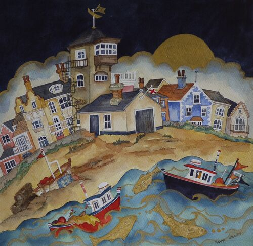 """home to a tower standing proud as the gold fish leapt to dance another day, Aldeburgh"""""""