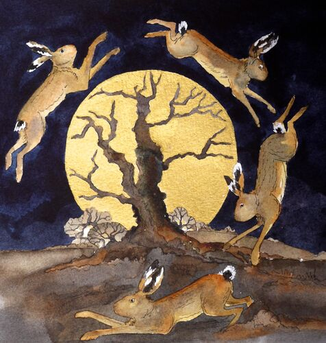 by golden light hares did leap the crumbling oak