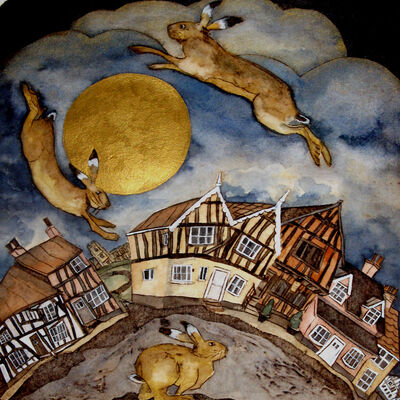 the crooked house hares Lavenham
