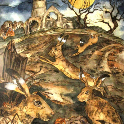 as gold moon rose by crumbling church the march madness began