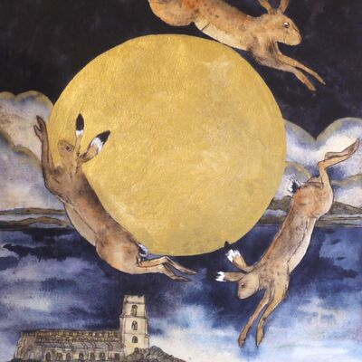that night the dancing hares leapt the golden moon,Blythburgh