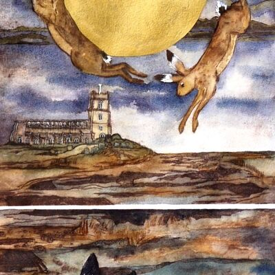 that night of the golden moon saw the hares leap and dance,Blythburgh