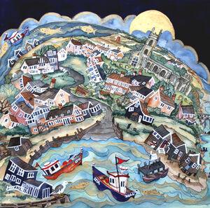 the work goes on by golden moon as folk slept, Walberswick