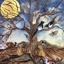 they gathered at the oak tree to celebrate the golden moon while folk slept on unaware