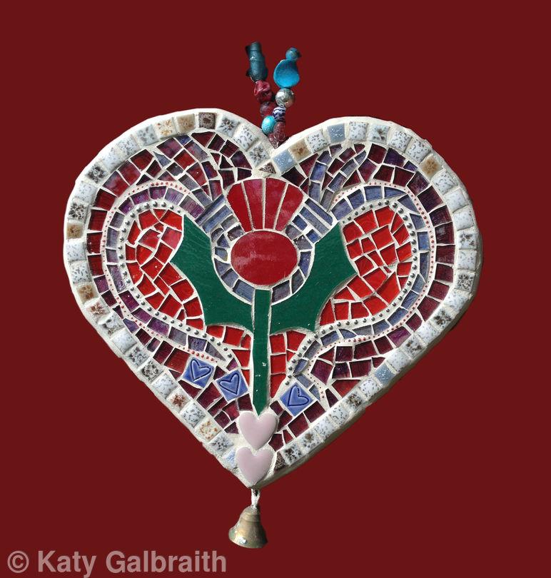 Thistle Heart sculpture side 1