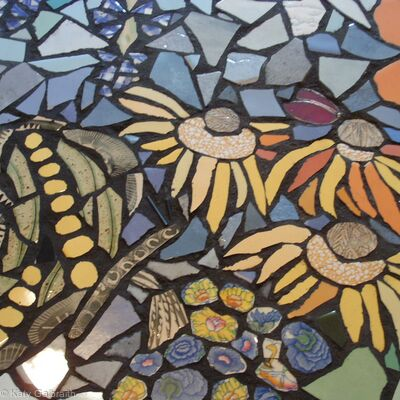Flowers in Mosaic