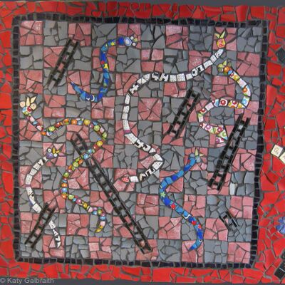 Snakes and Ladders Garden Table