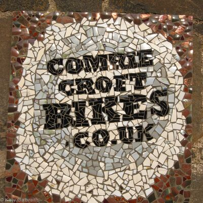 Comrie Croft Bikes sign