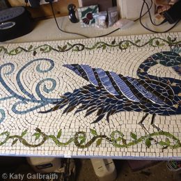 Exotic Bird Mosaic WIP