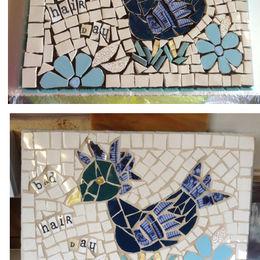 Duck or chicken mosaic