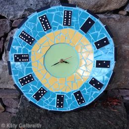 Domino Clock in Mosaic