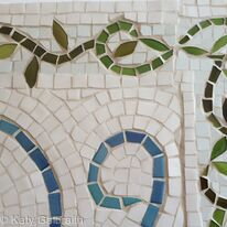Bathroom mosaic - detail of edging