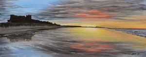 Bamburgh Sunset Reflections