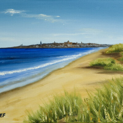 St Andrews from West Sands Dunes