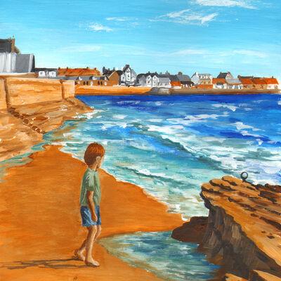 Boy by the Rocks, Elie
