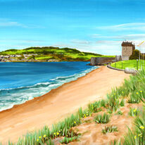 Castle and Sand Dunes, Broughty Ferry