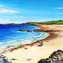 Boy on the beach, Iona