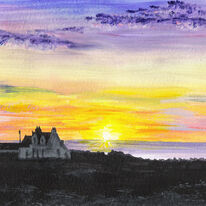 Croft at Sunset, Iona