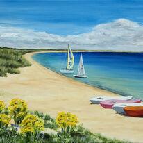 Boats on Studland Bay