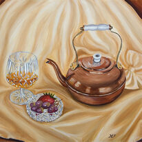 Copper Kettle and Cream Silk